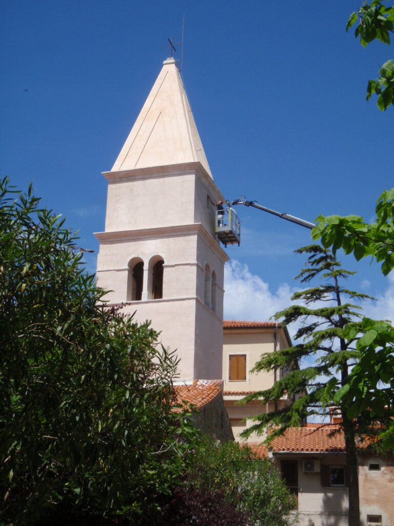 Delo na višini, cerkev Koper